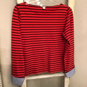 J. Crew Striped Shirt Size Large